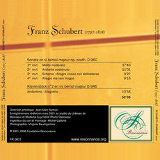 Franz Schubert - Sonate et Klavierstück
